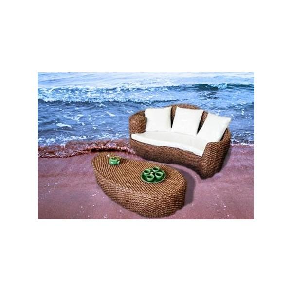 Conjuntos muebles terraza fibra rattan natural sofas for Ofertas conjuntos de jardin