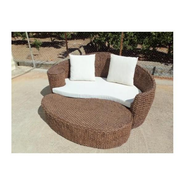 Conjuntos muebles terraza fibra rattan natural sofas for Conjunto rattan barato