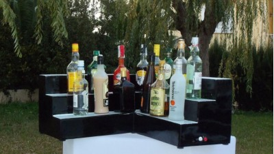 Barras de bar luminosas - Estanterias para botellas ...