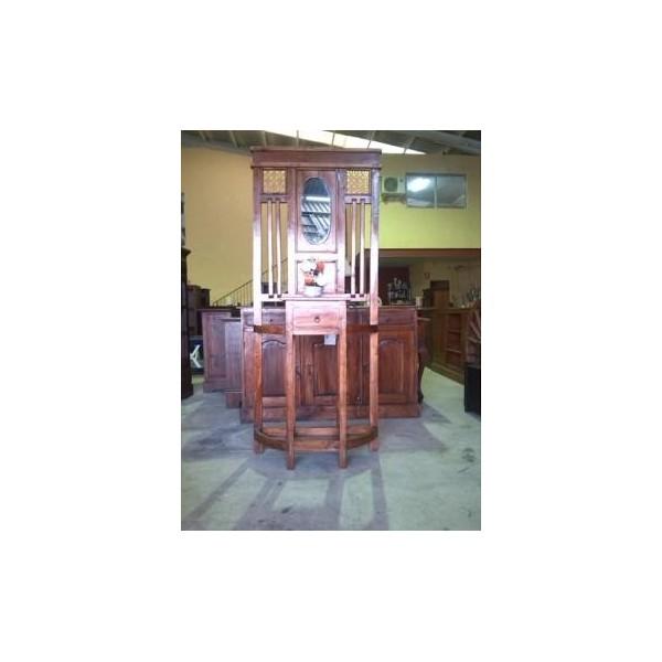 Liquidacion muebles rusticos coloniales auxiliares madera for Espejos rusticos baratos