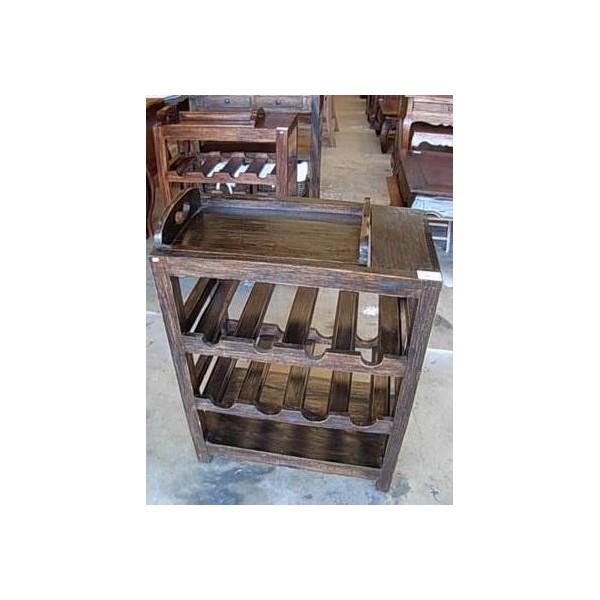 Liquidacion muebles rusticos coloniales auxiliares madera - Botelleros rusticos ...