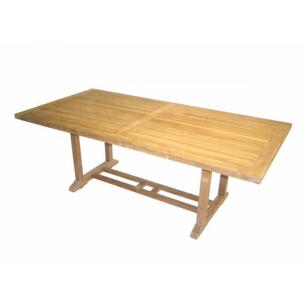 Mesas de jardin extensibles ideas de disenos for Muebles de teka para jardin