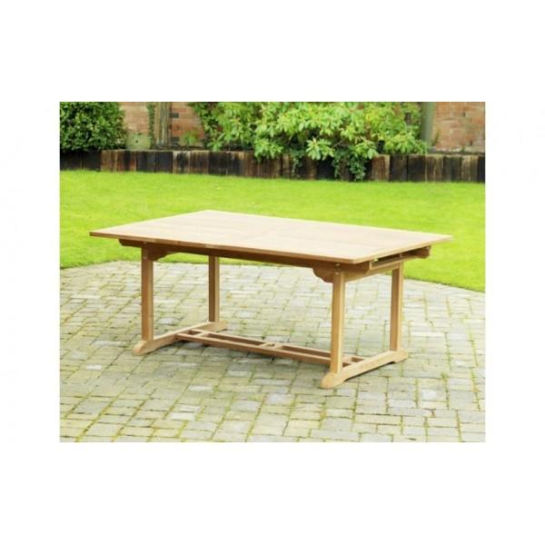 Muebles terraza jardin exterior teka mesas sillas tumbona - Mesas de terraza extensibles ...