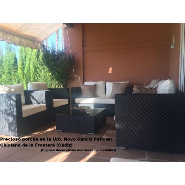 sillones sofas mesas tumbonas hamacas de jardin rattan