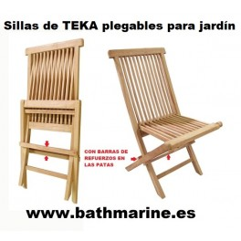 SILLA DE TEKA PLEGABLE JARDIN madera teca terraza exterior