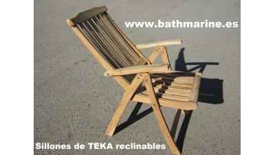 SILLON DE TEKA RECLINABLE madera teca jardin exterior terraza silla