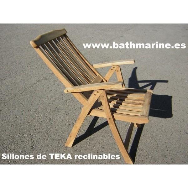 Muebles terraza jardin exterior teka mesas sillas tumbona - Sillon madera exterior ...