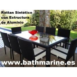 Sillones sofas mesas tumbonas hamacas de jardin rattan for Cojines sillas jardin