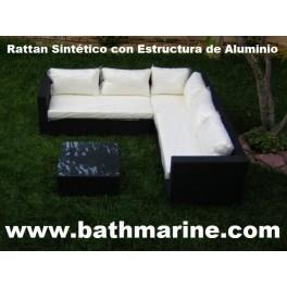 Ref 21023 OFERTA RINCONERA SOFAS MESA CONJUNTO RATTAN SINTETICO JARDIN