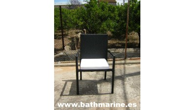 Ref. 22006S Liquidación Paquete 6 SILLAS Rattan Sintétco sillones con cojines RESISTENTE AL AGUA para terraza o jardin exterior