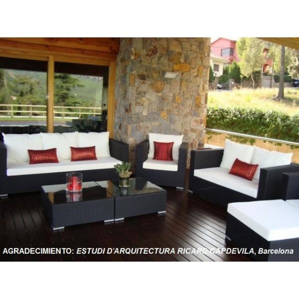 Sillones sofas mesas tumbonas hamacas de jardin rattan - Conjunto jardin rattan ...
