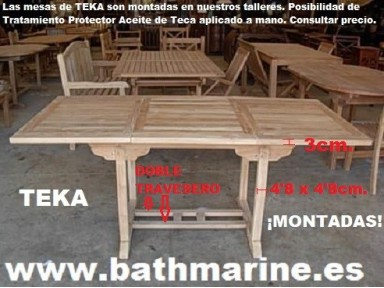 Muebles terraza jardin exterior madera teca teka mesas - Bancos para jardin baratos ...