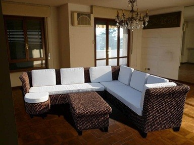 Conjuntos muebles terraza fibra rattan natural sofas for Sillones para jardin exterior