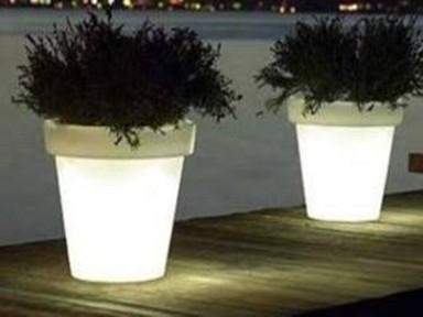 Macetas y lamparas con luz - Macetas con luz baratas ...