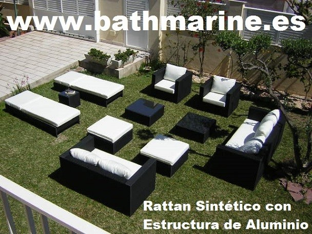 Muebles Jardin Rattan Sintetico Ratan Terraza Teca Teka Conjuntos - Sofas-jardin